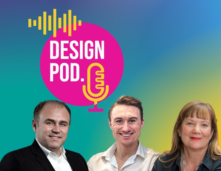 Promo image of Ep 2 of DESIGN POD