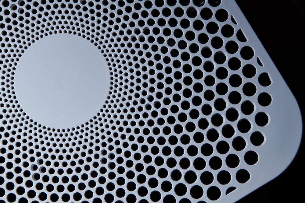 Close-up image of air purifier