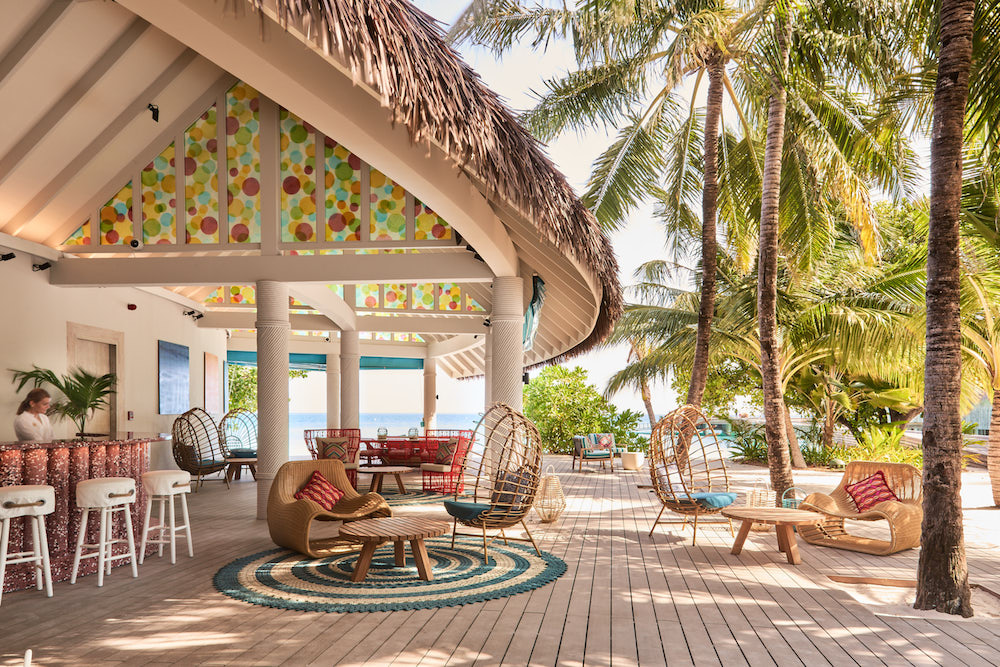 Image of beach-side reception in the Maldives