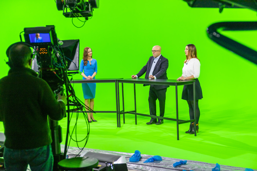 Green screen, behind the scenes of GROHE X