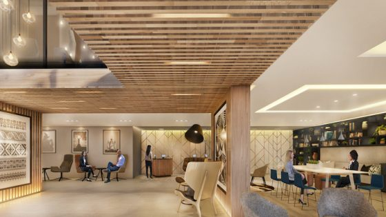 Interior visualisation of ADP's new hotel in Kyiv