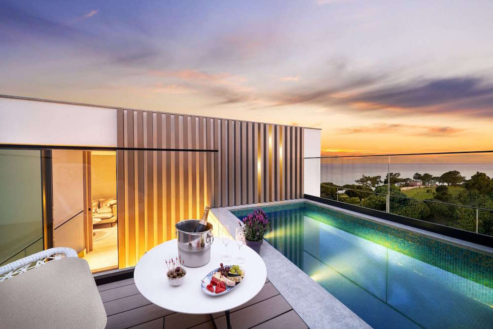 Render of private pool overlooking Algarve in hotel that opens in April