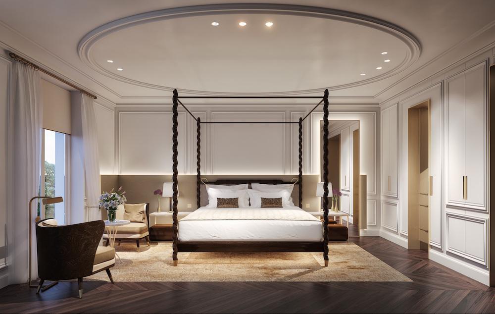 Sophisticated deluxe room inside Mandarin Oriental Madrid