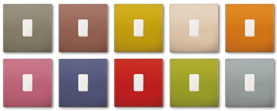 coloured switch plates