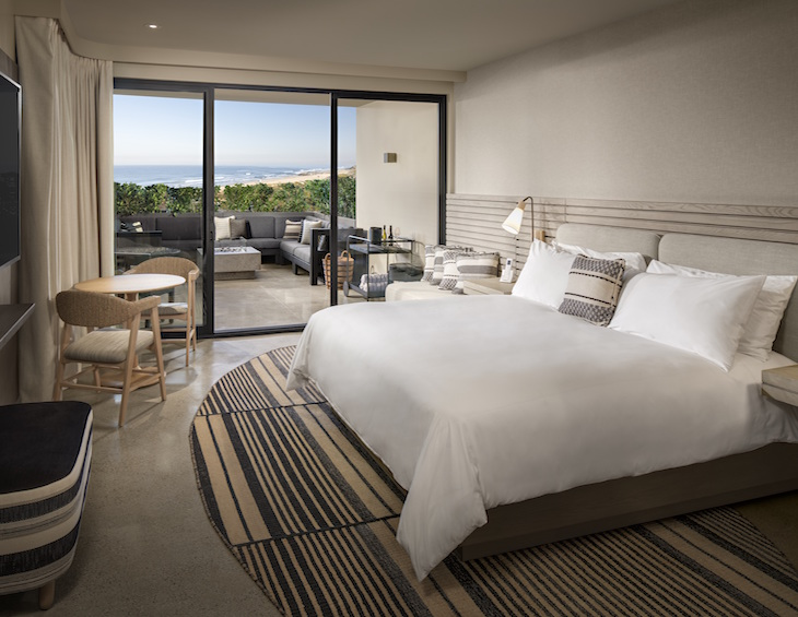 Render of guestroom inside Alila Hotel