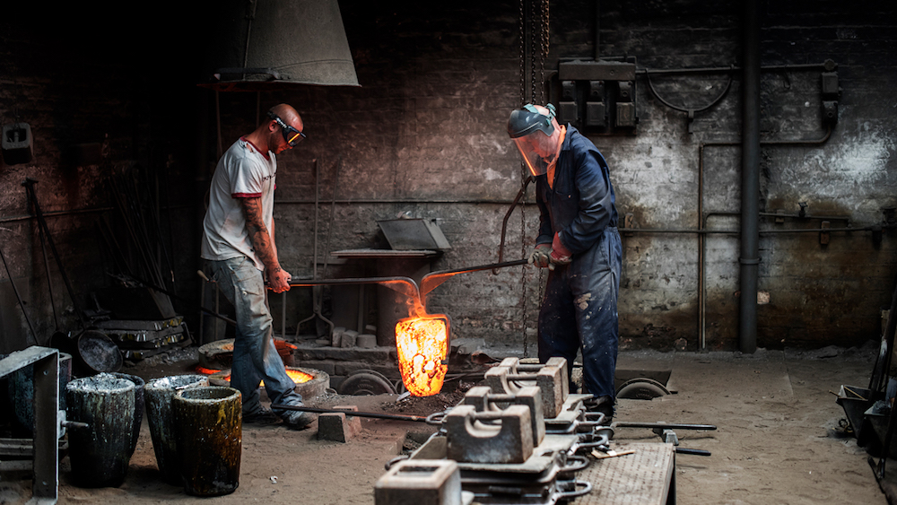 image of men making bespoke lights