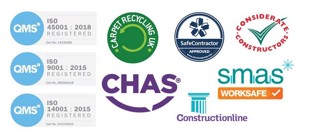 Logos of creditations