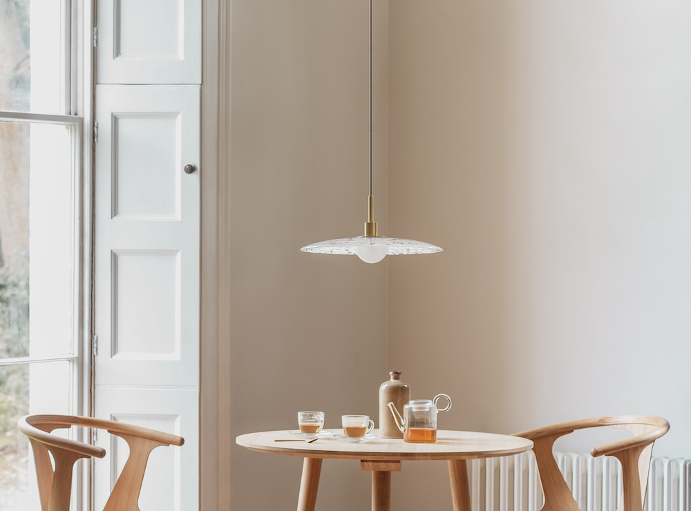 Image caption: Cosmo white and bronze pendant | Image credit: Heathfield & Co