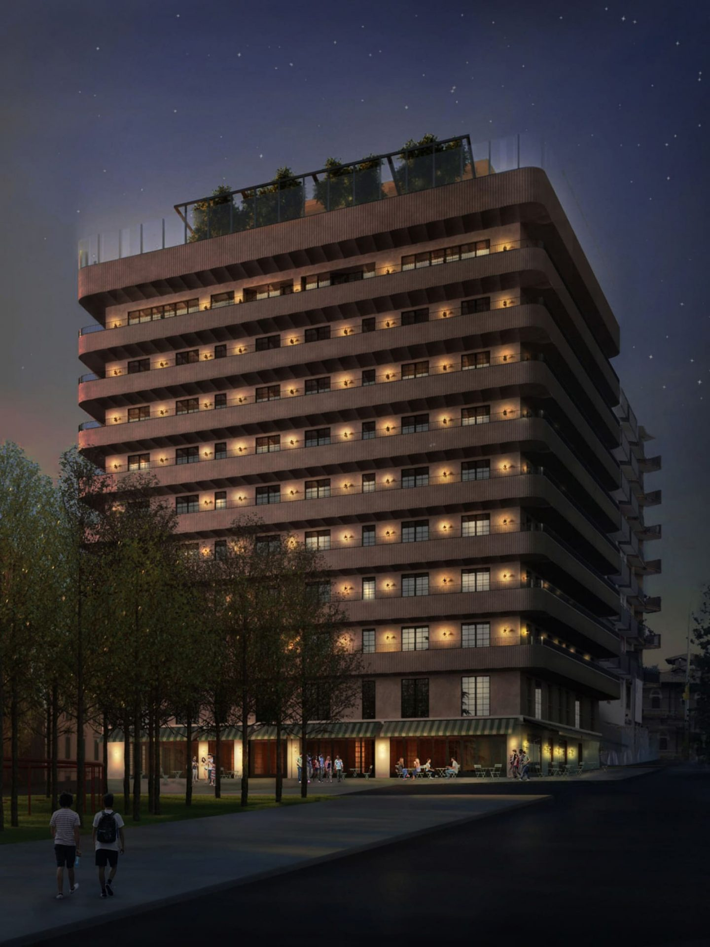 Exterior render of the Soho House Rome