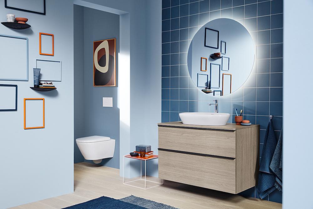 Blue modern bathroom from Duravit