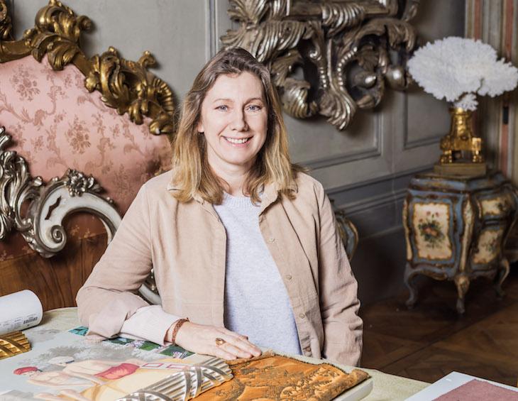 image of Louise Sawyer Bacou inside her London Studio