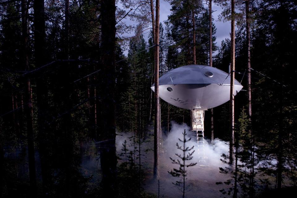Exterior of UFO Suite
