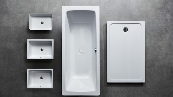 Image of various washbasins in cold industrial setting