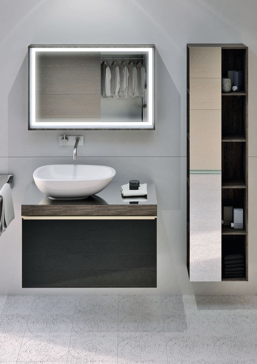Image of light and bright modern bathroom