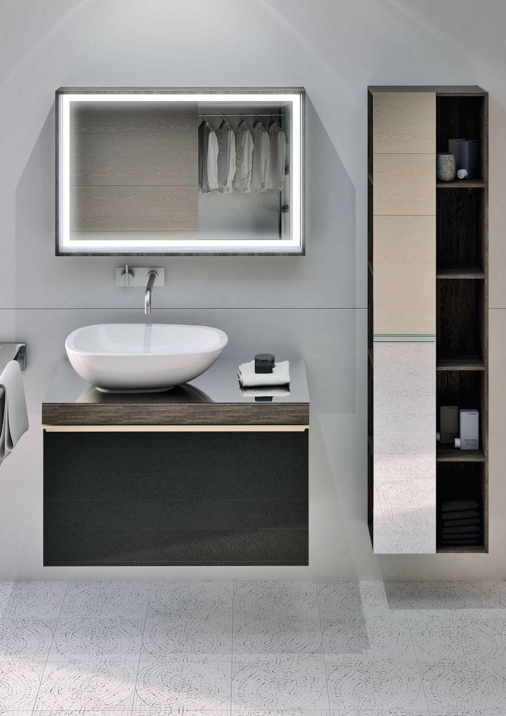 Image of light and bright modern bathroom