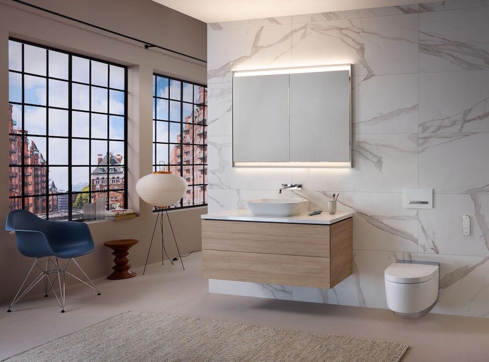 Image of urban large bathroom
