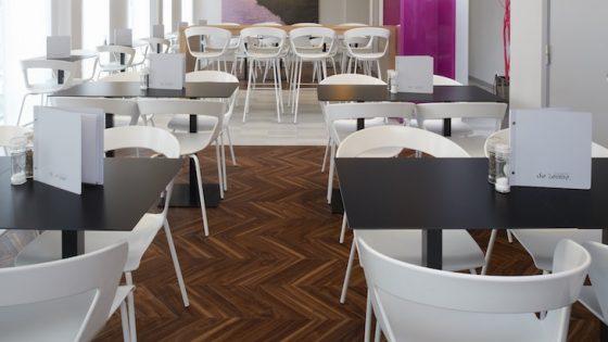 image of restaurant with parquet wooden flooring
