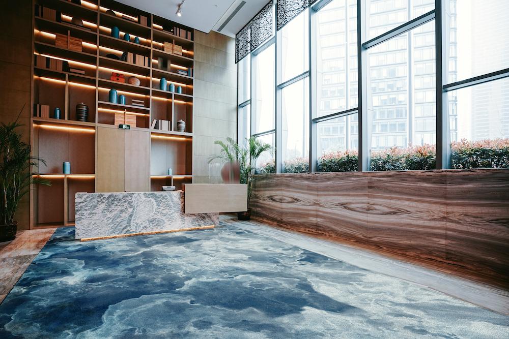 TSAR Retreat Collection—Ocean Song Axminster Carpet (blue carpet)