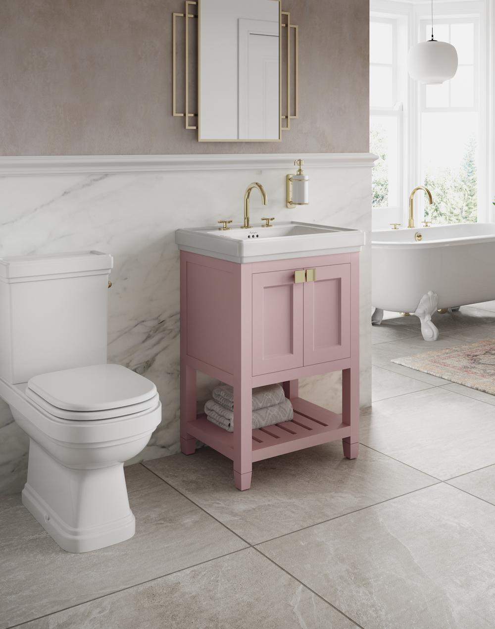 Image of pink bathroom basin from burlington