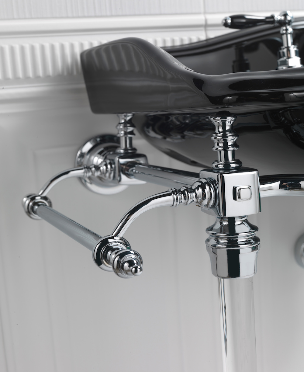 Image caption: Drift Hardwick basin stand by Imperial Bathrooms