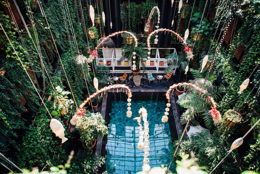 A jungle environment inside Manon Les Suites