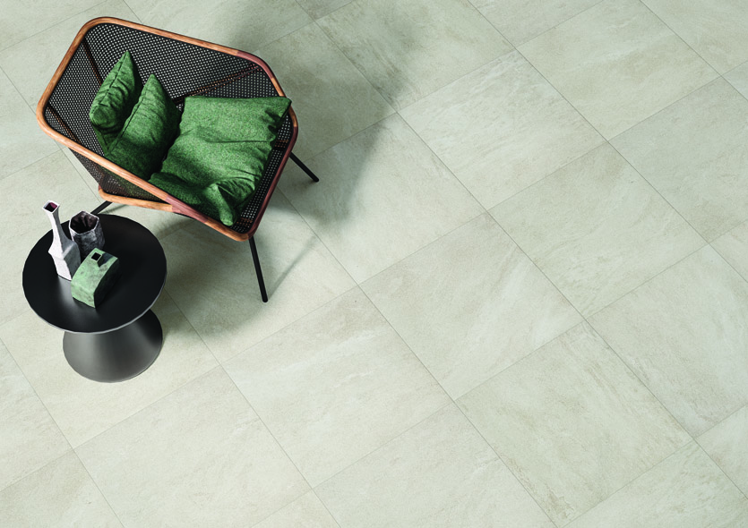 Image caption: Solid, durable and extremely versatile, RAK Ceramics Curton are stone-look porcelain tiles that make a highly attractive visual impact. | Image credit: RAK Ceramics