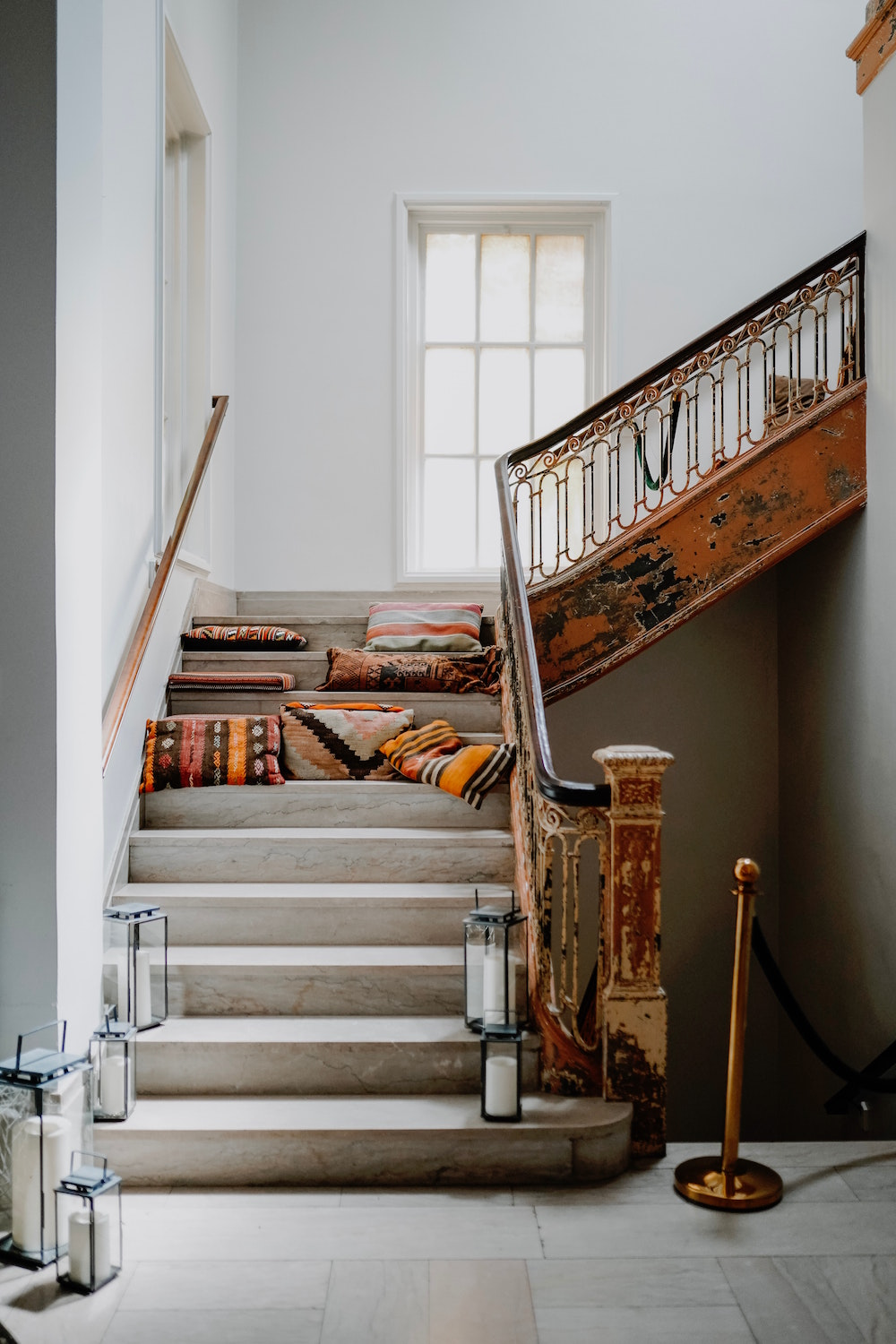 Image of rustic staircase