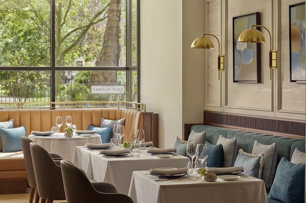 Restaurant that is stylishly designed by 1508 London at The Carlton Tower Jumeirah