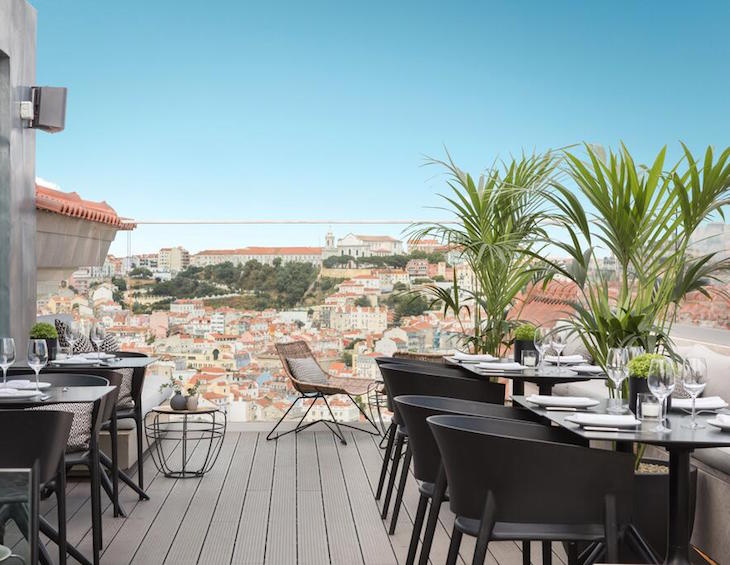 Rooftop bar in Portugal