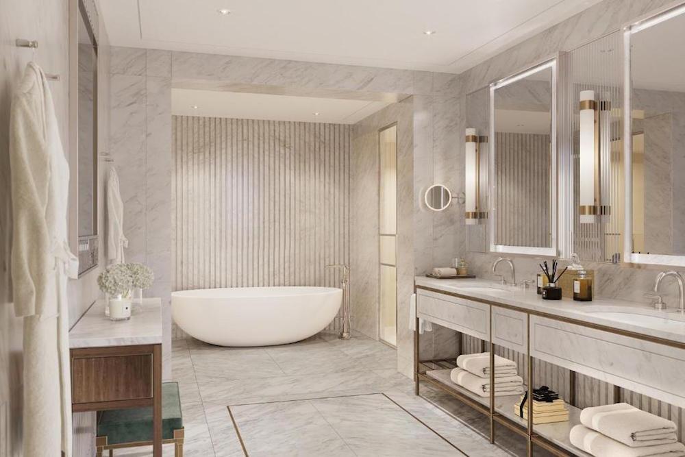 Luxurious bathroom inside The Carlton Tower Jumeirah