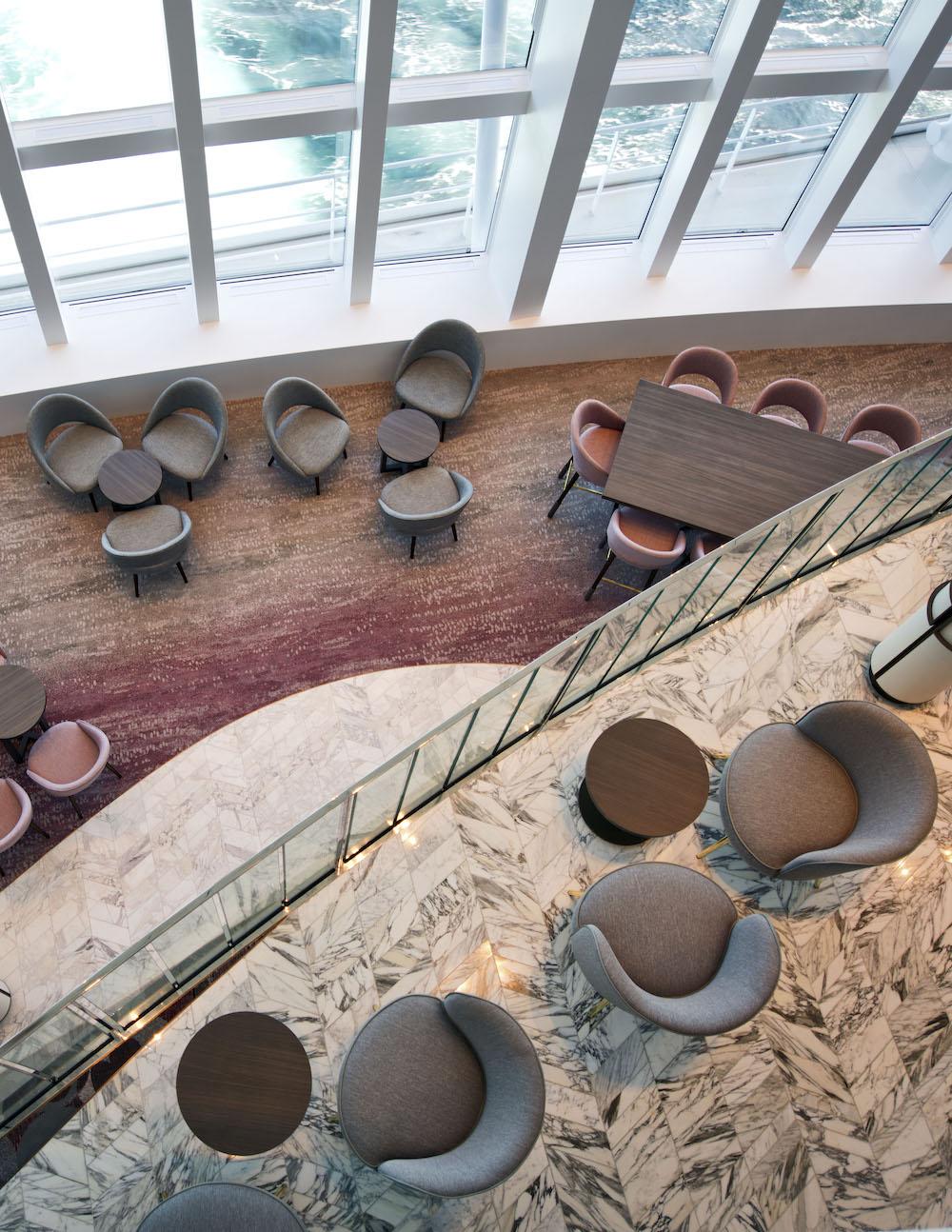 Atrium of P&O Cruises