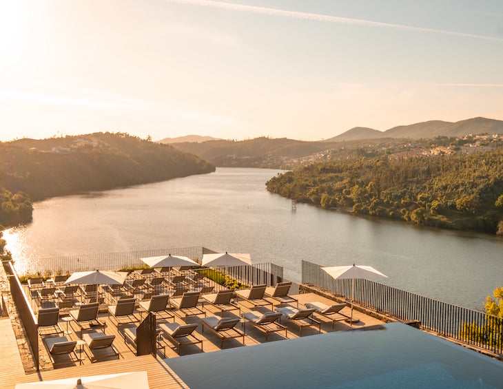 Pool and outdoor terrace overlooking Portugal's River Douro