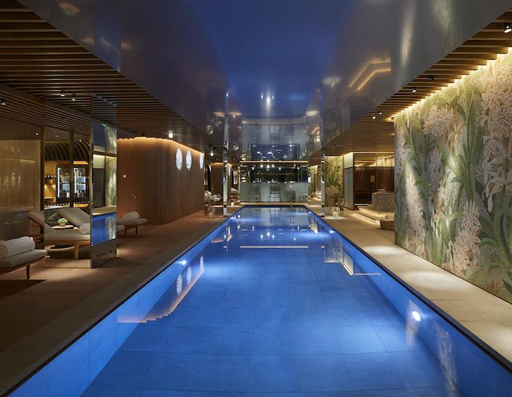 The swimming pool at The Spa at 45 Park Lane