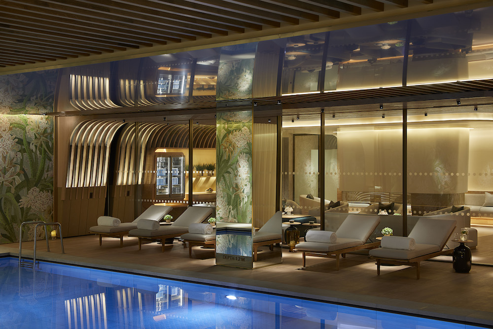 Image of the pool and relaxation area at The Spa at 45 Park Lane