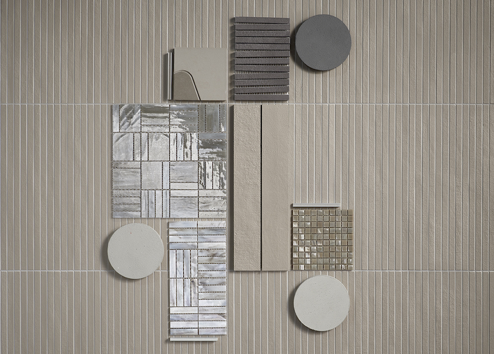 Moodboard of different tiles