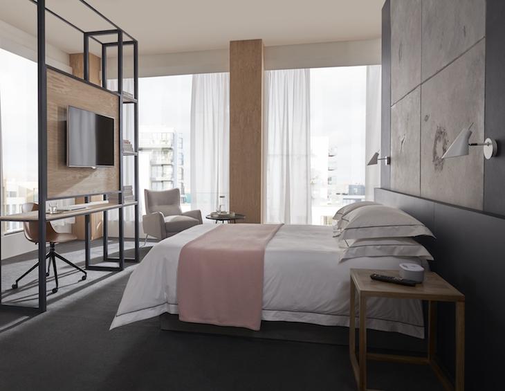 A modern and minimalist room