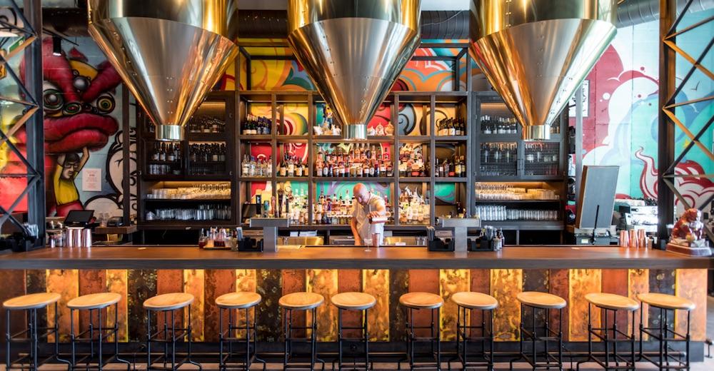Image caption: Hotel 50 Bowery, designed by Wimberly Interiors