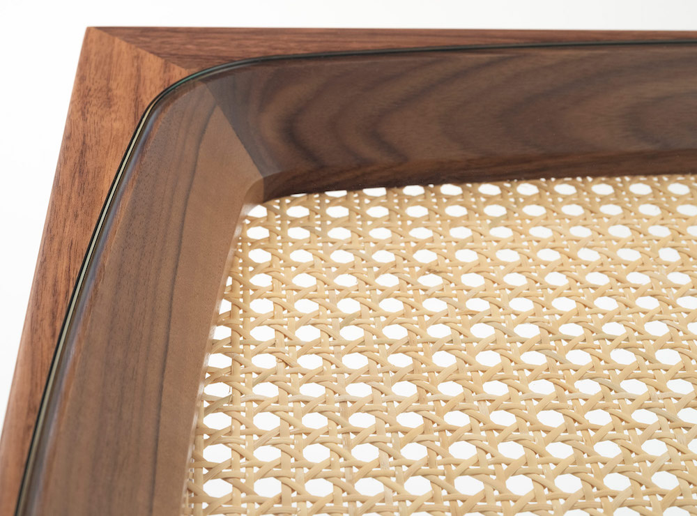 Close up of Goodwood table top by Morgan