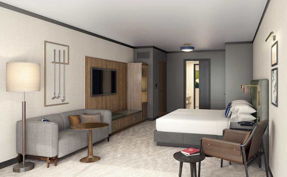 Guestroom inside the Omni hotel in Texas