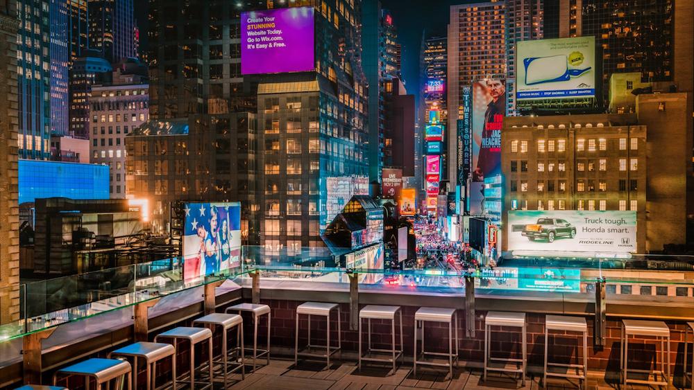 M Social NY terrace night view