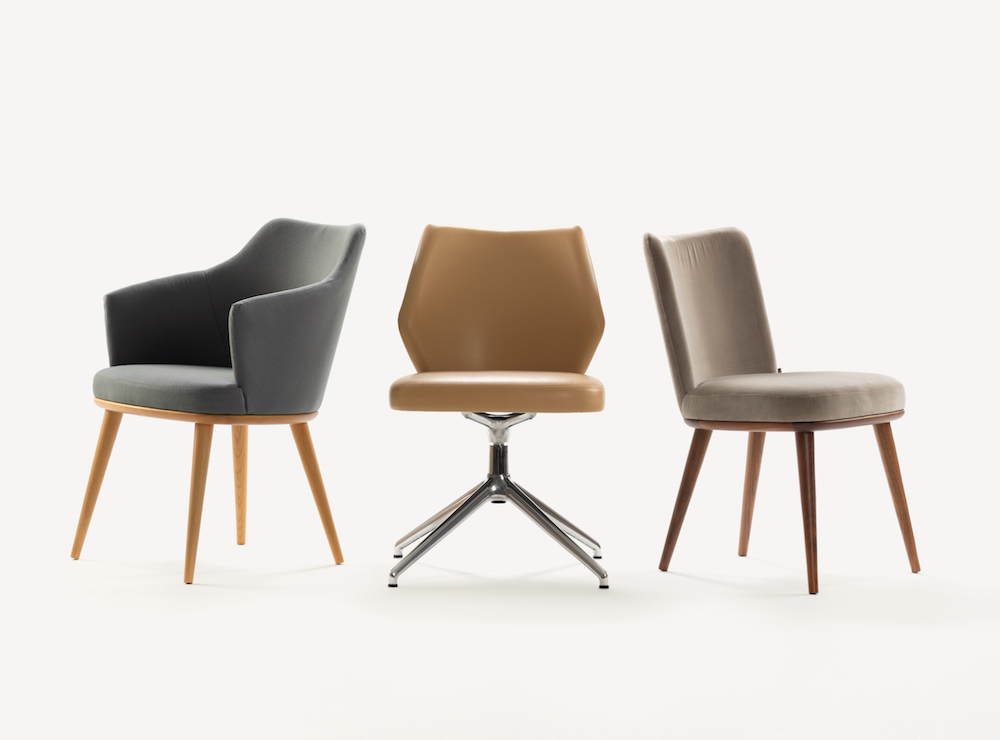 Image caption: Porto collection from Morgan has unveiled a swivel-based chair to the range.