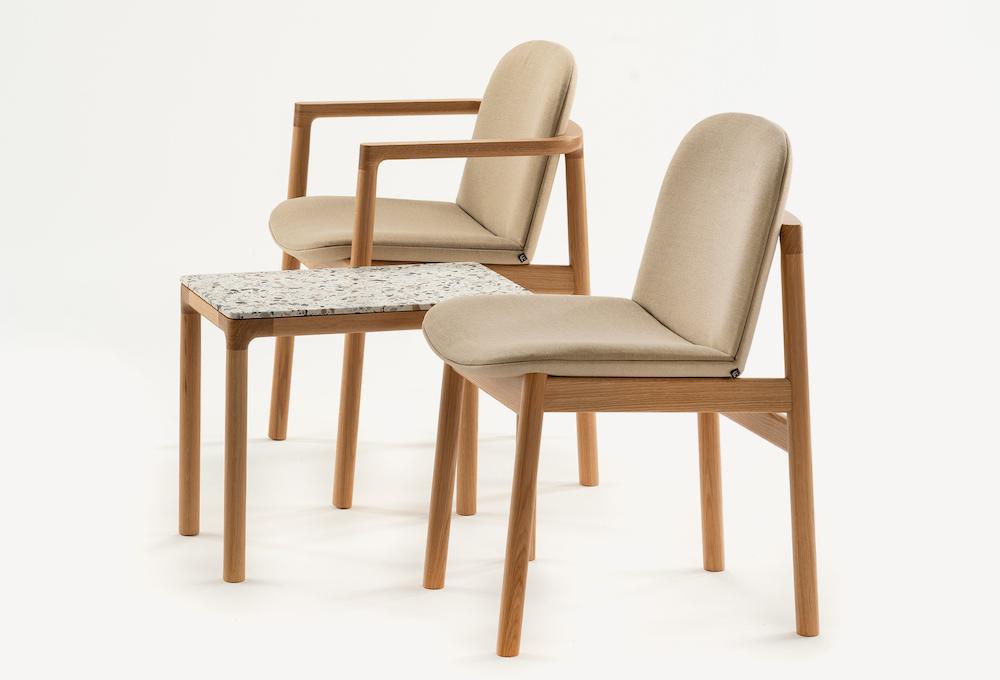 Rakino chair with table tops