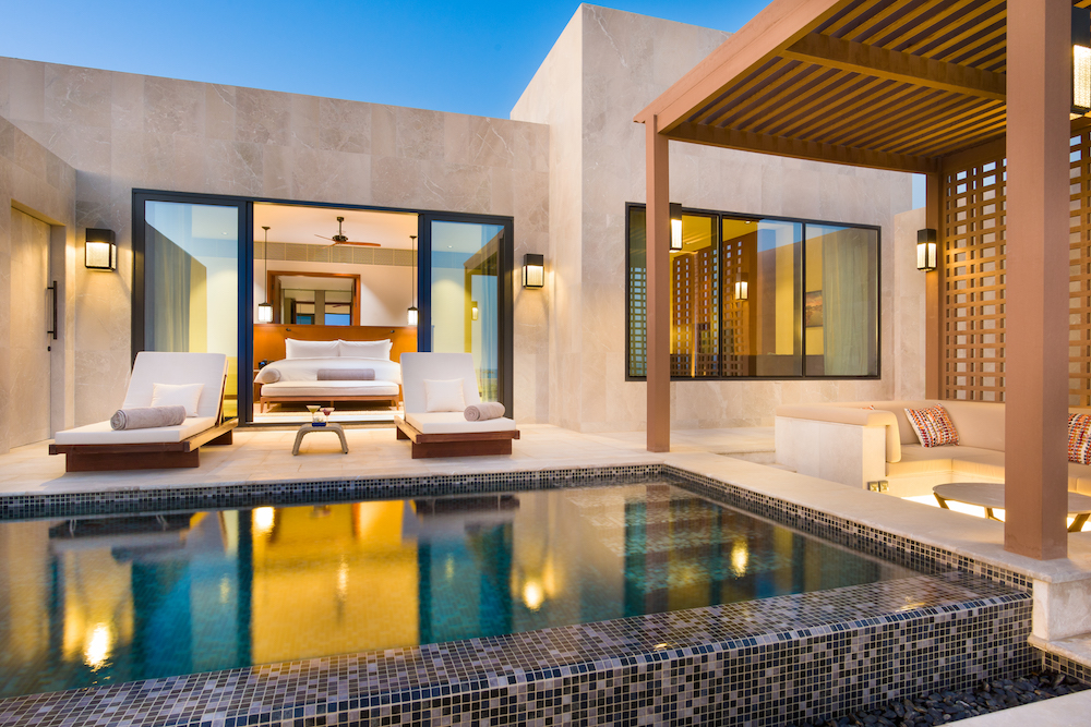 Pool at the Alila hotel in Oman
