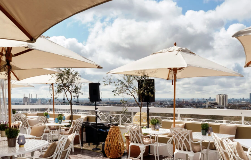 The Dorchester rooftop terrace