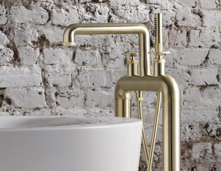 Crosswater brushwed brass tap