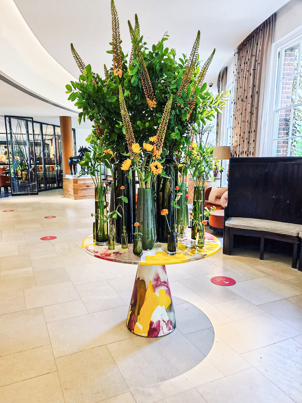 Image of table in Lobby