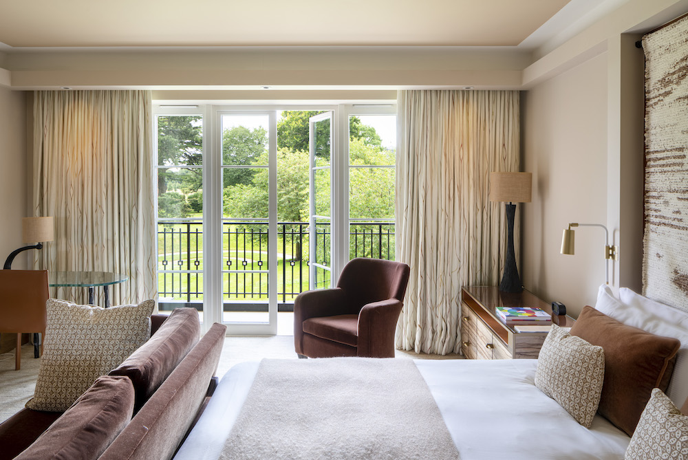Image caption: The newly designed guestrooms have been created to evoke nature.   Image credit: The Grove Hotel, Hertfordshire.