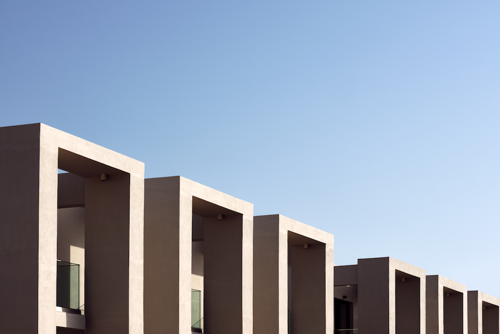 cube-like buildings