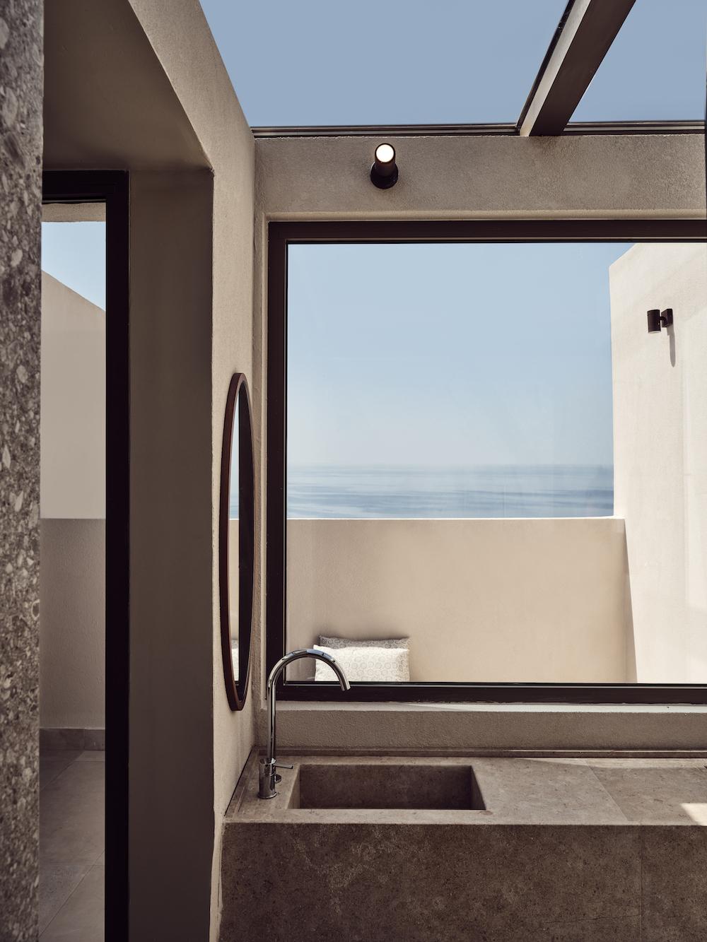 Architectural bathroom inside hotel