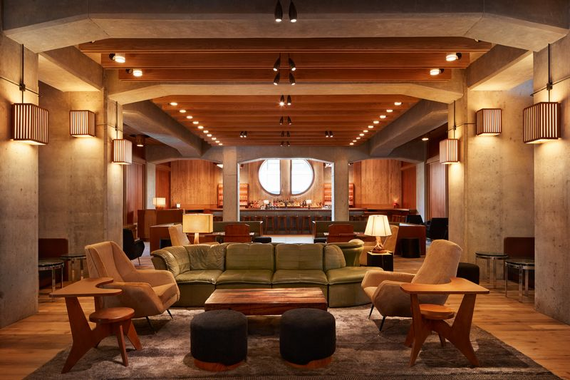 A cosy lounge inside the Brooklyn hotel